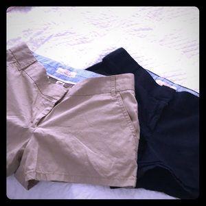 "Khaki shorts 1.5"" inseam J Crew"